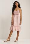 Jasnoróżowa Sukienka Ariereida