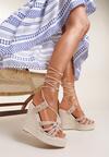 Beżowe Sandały Silaphine