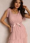 Różowa Sukienka Alaliphis