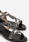 Czarne Sandały Zharial