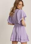 Liliowa Sukienka Rhenenea