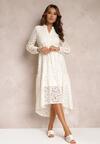 Biała Sukienka Lepheis