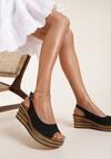 Czarne Sandały Phoishis