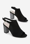Czarne Sandały Selestaeia