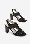 Czarne Sandały Samanise