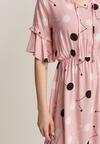 Różowa Sukienka Ethusi
