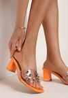 Pomarańczowe Klapki Shar