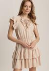 Jasnobeżowa Sukienka Samiphis