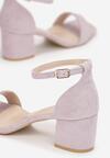 Liliowe Sandały Athizertise