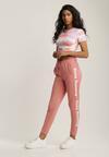 Różowe Spodnie Dresowe Alexyxio