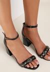 Czarne Sandały Harphali