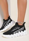 Czarno-Białe Sneakersy Stephitrius