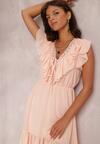 Różowa Sukienka Coraelura