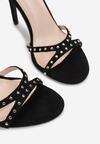 Czarne Sandały Sabrilinai