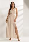 Beżowa Sukienka Helisine
