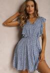 Niebieska Sukienka Phoaeia