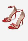 Czerwone Sandały Sabrilinai