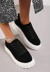 Czarno-Białe Sneakersy Talten