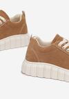 Ciemnobeżowe Sneakersy Talten
