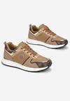 Ciemnobeżowe Sneakersy Ruxisdea