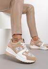 Ciemnobeżowe Sneakersy Therlyame