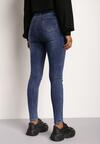 Niebieskie Jeansy Skinny Asidia