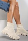 Beżowe Sneakersy Langaria