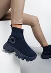Granatowe Sneakersy Langaria