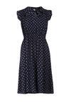 Granatowo-Szara Sukienka Calonara