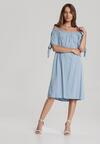 Niebieska Sukienka Amanei