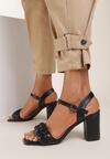 Czarne Sandały Sabosi