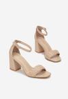 Beżowe Sandały Nadareida