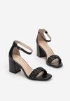 Czarne Sandały Nadareida