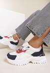 Biało-Czerwone Sneakersy Loraella