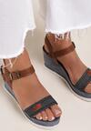 Granatowe Sandały Idaphyphe