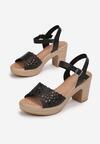 Czarne Sandały Ophiedice