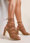 Beżowe Sandały Vhesriane