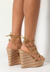 Beżowe Sandały Standing