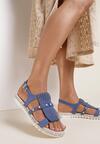 Granatowe Sandały Elysian