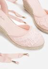 Różowe Sandały Attractive