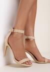 Beżowe Sandały Alusura