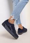 Granatowe Sneakersy Amor De Mi Vida