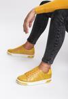 Musztardowe Sneakersy Amor De Mi Vida