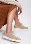 Beżowe Buty Sportowe Elastic Hands