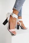 Różowo-Białe Sandały Broken Glass