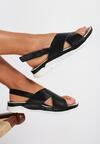 Czarne Sandały Safe Place