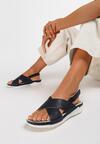 Granatowe Sandały Safe Place
