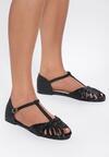 Czarne Sandały Delighting Glow