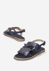 Granatowe Sandały Charcoal Black