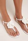 Białe Sandały Self-Obsession